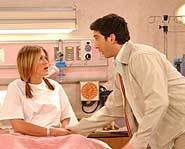Friends - Rachel Green & Ross Geller at the hospital.