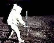 Allan Sheppard golfing on the moon. Fore!