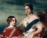 Queen Victoria with one of her nine kids.