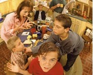 Malcolm in the Middle and his embarassing family.