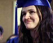 Elizabeth Murray at her grad.
