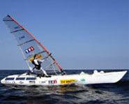 Raphaella Le Gouzello windsurfed across the Pacific Ocean in 89 days.