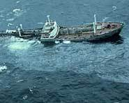 ARGO MERCHANT ran aground.