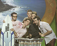 *NSYNC gets a surfboard!