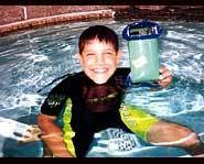 Richie with his water talkie.