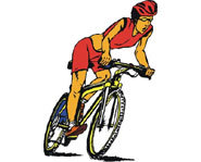Cycling is one of the three events, along with cycling and running in a triathlon.