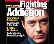 Robert Downey Jr. suffers from drug addiction.