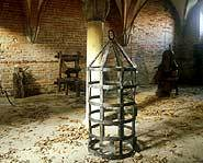 The monks used the room and the torture devices to punish disobedient workers.