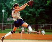 Biography: Catherine  Osterman pitches.