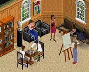 The Sim Family At Home.