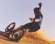Picture of person dirtsurfing on a dirtsurfer.