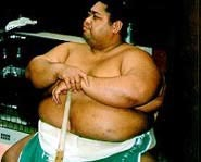 Sumo Wrestler Waiting His Turn