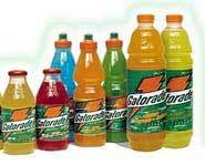 There are many great thirst quenchers like Gatorade, water, PowerAde and more!