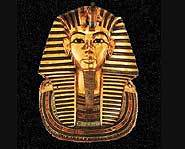 King Tut's golden mask.