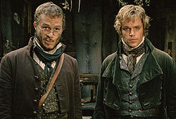 Heath Ledger and Matt Damon star in The Brothers Grimm.