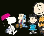 Just a few of the characters Charles Schulz created: Charlie Brown, Lucy, Linus & Snoopy.