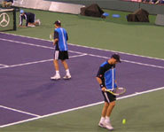 Photo of tennis playing brothers, Bob and Mike Bryan.