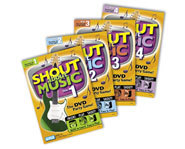 Shout About Music is a DVD trivia game with questions on songs, musicians and other musical topics.