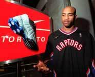 Vince Carter warmin' up.