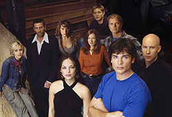 Tom Welling and Kristen Kreuk star in The CW show, Smallville.
