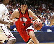 Picture of Australian basketball player, Andrew Bogut, the number one draft pick of the Milwaukee Bucks.