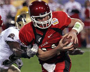 Photo of Utah quarterback, Alex Smith, the number one pick in the 2005 NFL draft.