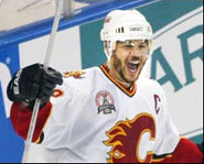 Photo of Jarome Iginla of the Calgary Flames.