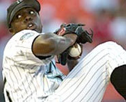 Photo of Dontrelle Willis, pitcher for the Florida Marlins.