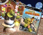 We review the slammin' action of the new Shrek SuperSlam video game for Gamecube, Playstation 2 and Xbox!