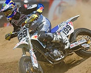 Photo of motocross rider in Super Moto event.
