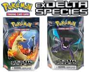 We review the new Pokemon card game EX Delta Species set and starter decks!