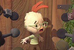 Zach Braff and Joan Cusak lend their voices to the Disney flick, Chicken Little.