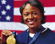Photo of US Olympic bobsled racer, Vonetta Flowers.
