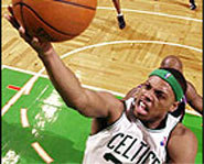 Picture of NBA basketball player, Paul Pierce of the Boston Celtics.