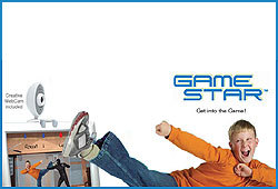 The Game Star Web Cam allows you to step into video games and chat live with friends!