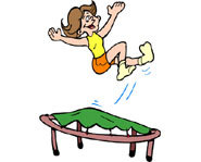 Trampolining is a good form of exercise for kids.