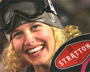 Photo of US pro snowboarder, Lindsey Jacobellis.