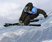 Photo of freestyle skier at the 2005 Winter X Games.