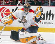 Photo of goalie, Roberto Luongo, of the Florida Panthers.