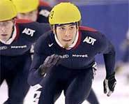 Photo of US Olympic speedskater, Apolo Ohno.
