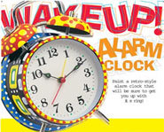 The Creativity For Kids Wake Up! Alarm Clock is a great craft kit for kids.