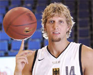 Picture of Dirk Nowitzki of the Dallas Mavericks.
