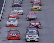 Picture of NASCAR auto race.