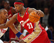 Picture of Lebron James, who will play in the 2005 NBA All-Star Game.
