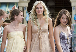 Sara Paxton, Emma Roberts and JoJo star in the mermaid movie, Aquamarine.