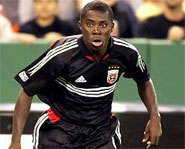 Picture of Freddy Adu playing for DC United of Major League Soccer.