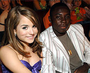 Photo of Freddy Adu and JoJo at the 2005 Teen Choice Awards.