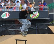 Photo of skateboarder at the X Games.