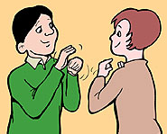 You don't have to know sign language to work with hearing-impaired people.