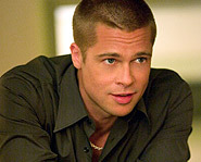 Brad Pitt in Ocean's 11. He is currently dating Angelina Jolie.